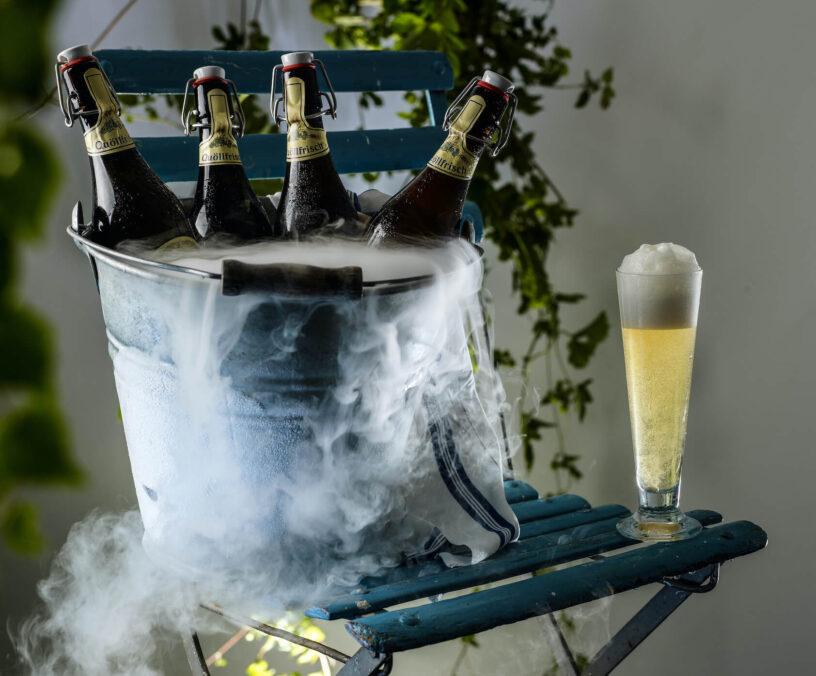 trockeneis Bier gekühlt polarjet